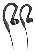 Philips SHQ3200 ActionFit Washable Ultra Light Sports Headphones, Earhooks Black