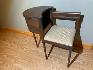 Vintage mahogany telephone bench / gossip bench