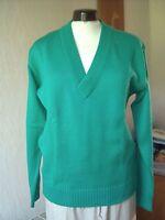 WS Herren Strick-Pullover Gr. 50 grün V-Ausschnitt Polyacryl