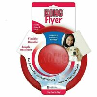 KONG Flyer Frisbee Dog Toy Size Small or Large Classic Rubber Fetch Toys Dogs