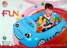 """Blue Car Pit Ball Pool - Fun - 46"""" x 32"""" x 19.5"""" - c/w 25 Pit Balls"""