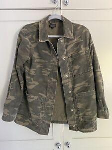 Topshop Army Camo Shacket Size 10