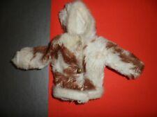 Clone doll clothes Barbie Maddie Mod Tressy Sindy White Faux Fur Jacket Coat tlc