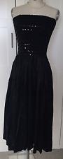 RARE VINTAGE ALAIA BLACK  BANDEAU DRESS