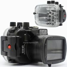 40m 130ft Underwater Diving Waterproof Housing Case for Canon EOS M3 18-55mm
