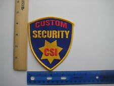 CUSTOM SECURITY CSI Patch Rock Biker Uniform Costume Halloween Guard Police
