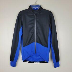 Maks Bike Wear S Black & Blue Zippered Front Cycling Jacket