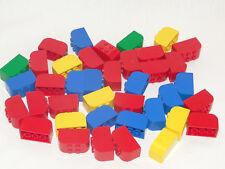 Lego Fabuland Basic 39 x Stein halbrund rund 2x4x2 rot blau gelb grün