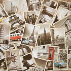Retro Travel Postcard Vintage European and American Picture Post Card 32pcs/Box
