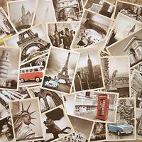 Retro Travel Postcard Vintage European and American Picture Post Card 32pcs/Box