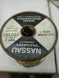 Nassau Rosin Core Solder 1lb 10oz spec-AT-7076 Pedigreed Western Electric at&t