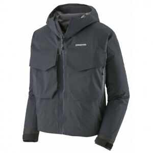 Patagonia SST Fishing Jacket, Smolder Blue Size L, Waterproof Breathable