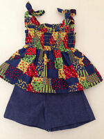 New! American Girl Julie's Patchwork Outfit - Top and Shorts Only