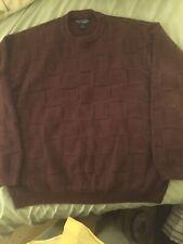 Men's XL ROUNDTREE & YORK brown Cotton Sweater