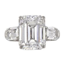 Diamond Engagement Ring GIA Certified 7.00 Carat Emerald Cut Diamond Platinum