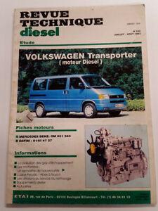 VW Vokswagen TRANSPORTER T4 - diesel 4 et 5 cylindres : revue technique RTD 182