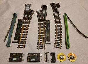 Used Ho Scale Atlas Snap Switches Brass Rail Right & Left Train Track