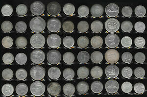 60 BIG SILVER OLD WORLD COINS > SUPER LOT MUST SEE > 30+ TrOz Gross Wt > NO RSV