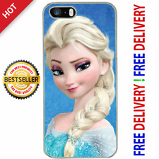For iPhone 5 5S SE Cartoon Disney PRINCESS ELSA Face Cute Girls Soft Cover Case