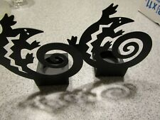 2 Partylite tealight candle holders - lizard design