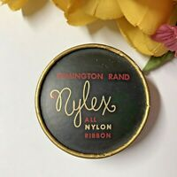 c1950 MCM VTG Typewriter Ribbon Box Remington Rand-NYLEX-All Nylon Ribbon