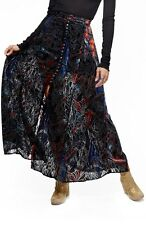NWT$148 Free People Velvet 'Burnout' Skirt,0,Black Combo,OB545544,888374561583