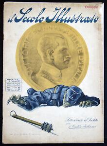 rivista IL SECOLO ILLUSTRATO Dudovich Iribe Mussolini Prestito Nazionale 1917