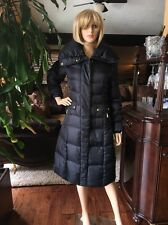 COLE HAAN SIGNATURE LONG DOWN PUFFER COAT PILLOW COLLAR LARGE NEW BLACK