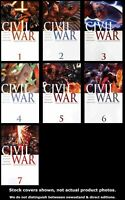Civil War 1-7 Marvel 2006 Complete Set Run Lot 1-7 VF/NM