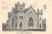 Fairbury Nebraska~Methodist Episcopal ME Church~1908 B&W Postcard