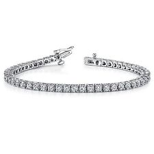 5.50 ct round cut white gold 14k diamond tennis bracelet D VVS2 NOT ENHANCED