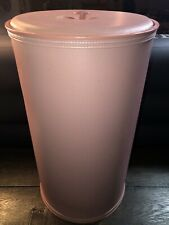 """New Vintage Pink Clothes Laundry Hamper Basket 23"""" Tall Made in Burlington, Iowa"""