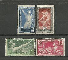FRANCE VIII eme OLYMPIADE  PARIS 1924. Série complète  4 timbres neufs*  (5153)