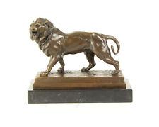 Bronze Figur Löwe Brüllend Skulptur Statue Roaring Lion Dekoration Tierfigur 6KG