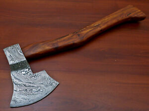 Rody Stan HAND MADE DAMASCUS TOMAHAWK, HATCHET, AXE,INTEGRAL - AD-8279