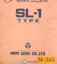 Mori Seiki SL-1, Lathe Parts Lists Manual 1980