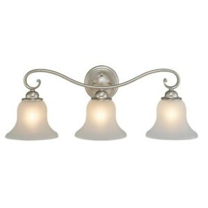 Vaxcel Monrovia 3 Light Vanity Light in Brushed Nickel - VL35473BN