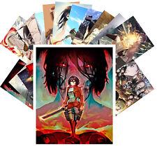 24 Postkarten Set * Attack on Titan Manga Japanese Horror Anime CA6006