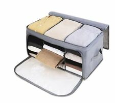 Home Storage Boxes Fiber Clothing Organizer Zipper Case Bags Accessory Container