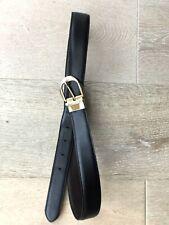 Ungaro Negro/Marrón Reversible Cinturón De Cuero Talla 34 pulgadas