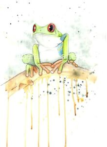 Signed Limited Edition Reptile Print - Red Eyed Tree Frog - Exotic Series - A4
