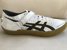 Asics Cyber High Jump London Track Spikes G205Y Black Gold Mens 10.5 Womens 12