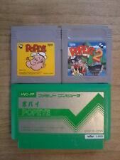 Lot POPEYE 1 & 2 -- Game Boy GB / Famicom NES -- Nintendo