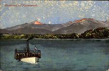 Schiffe 1910 Schiff kl. Dampfer passiert Herreninsel Kampenwand Stempel Prien