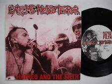 """EXTREME NOISE TERROR Hatred And The Filth EP 45 7"""" 2004 Sweden EX"""