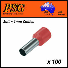 Cable Ferrules 1mm2 x 100 pack, Bootlace, Pin Crimps, Wire Sleeves