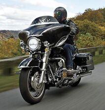 Harley Davidson FLHT FLHX Trikes Kuryakyn 7269 Bat Lashes Lighted - Black Chrome