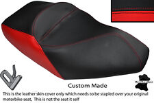 RED & BLACK CUSTOM FITS PIAGGIO X8 125 DUAL LEATHER SEAT COVER ONLY