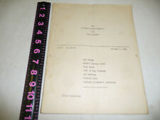 "ROY ROGERS NBC ST LOUIS SCRIPT ""SATURDAY NIGHT ROUND-UP"" & TICKET OCTOBER 5,1946"