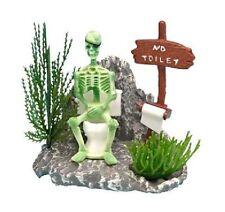 Action-Air Skeleton on Toilet Aquarium Ornament - OJ7 - Penn Plax